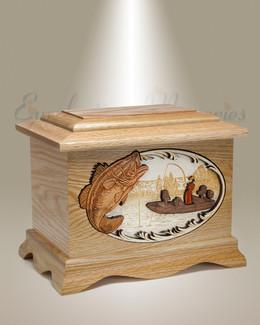Oak Ambassador w/ Bass Cremation Urn