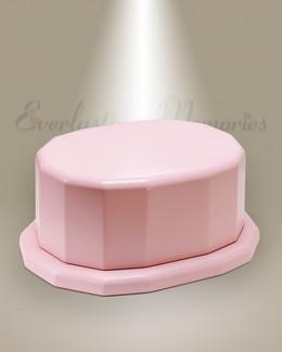 Pink Oval Cremation Urn