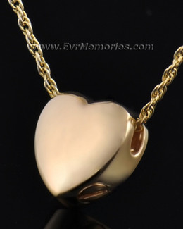 Gold Plated Dedication Heart Jewelry Urn