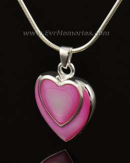 14k White Gold Crimson Heart Ash Jewelry
