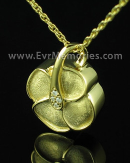 Gold Plated Clover Cremation Charm