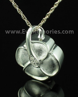 Sterling Silver Clover Necklace Urn