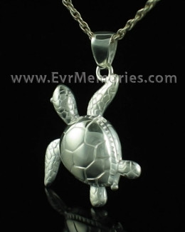 Sterling Silver Tortoise Necklace Urn