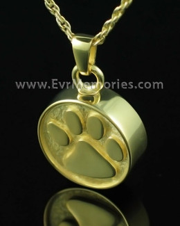 Gold Plated Pawful Funeral Jewelry
