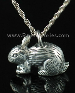 Sterling Silver Bunny Locket Necklace