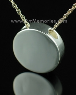 Sterling Silver Simple Round Keepsake Pendant