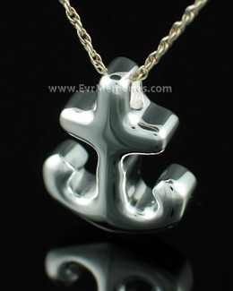 Sterling Silver Anchor Memorial Keepsake