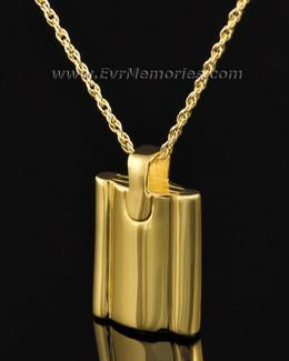 Gold Plated Gentleman's Flask Memorial Jewelry