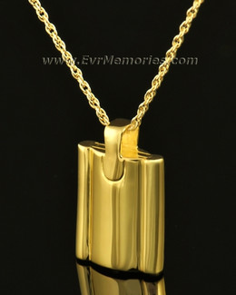 14k Gold Gentleman's Flask Memorial Jewelry