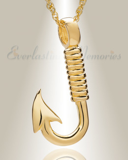 Gold Plated Fresh Catch Memorial Pendant