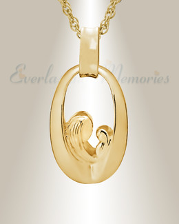 Gold Plated Tender Round Memorial Jewelry