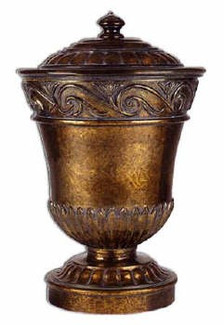 Metal Swirl Brass Urn