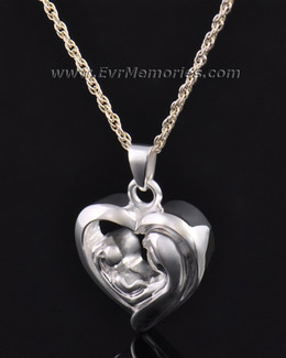 Together in My Heart Memorial Pendant-evr6309ss