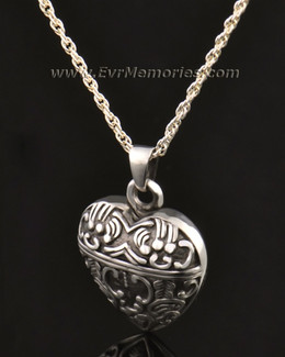 14k White Gold Expressive Heart Jewelry Pendant-evr6315wg
