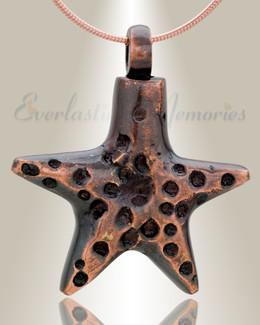 Copper Striking Starfish Memorial Pendant-evr6318