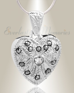 Silver Jester Cremation Jewelry-evr6470ss