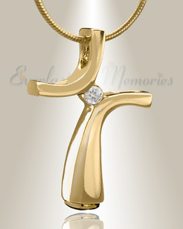Gold Plated Desired Cremation Jewelry-evr6479g