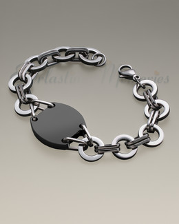Stainless Black Plated Valiant Bracelet Cremation Jewelry