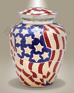 Americana Brass Cremation Urn