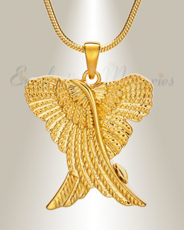 Gold In Peace Urn Pendant
