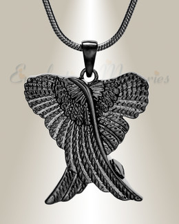 Black In Peace Urn Pendant