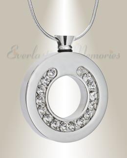 Silver Tender Ring Urn Pendant