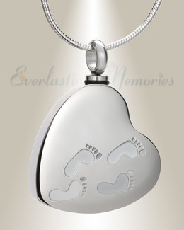 Stainless Traveling Heart Urn Pendant