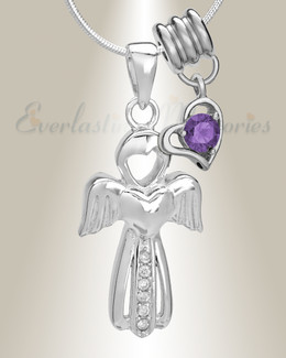 February Virtuous Angel Memorial Jewelry