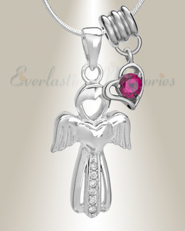 July Virtuous Angel Memorial Jewelry
