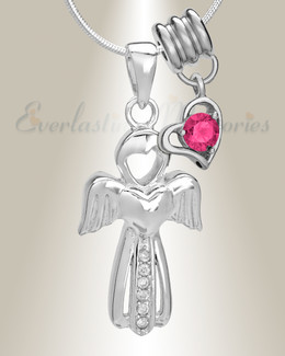 October Virtuous Angel Memorial Jewelry