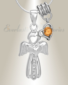 November Virtuous Angel Memorial Jewelry
