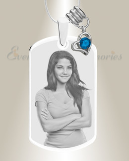 Large Photo September Dog Tag Stainless Engraved
