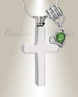 May Remembrance Cross Locket Necklace
