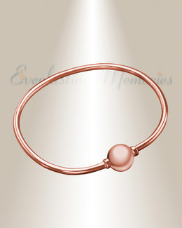 Rose Gold over Stainless Codder Bracelet Cremation Jewelry