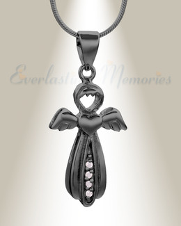 Black Virtuous Angel Memorial Jewelry