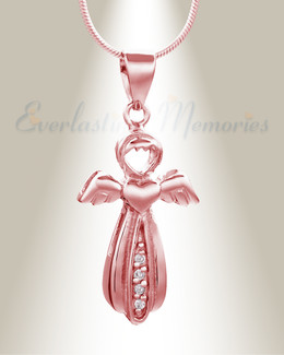 Rose Gold Virtuous Angel Memorial Jewelry