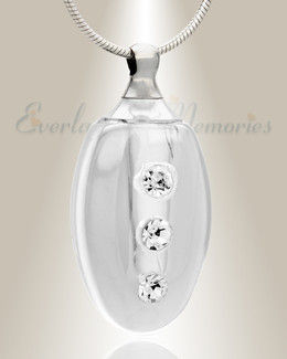 Glass Locket Clear Forever Cremation Jewelry