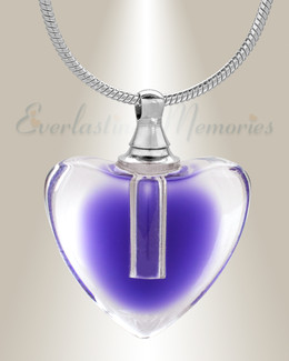 Glass Locket Violet All My Heart Cremation Jewelry