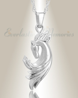 White Gold Stallion Memorial Jewelry