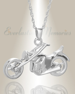 White Gold Cruisin Cremation Keepsake
