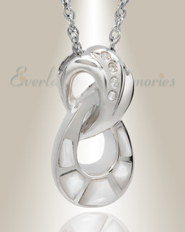 White Gold Everlasting Infinity Keepsake