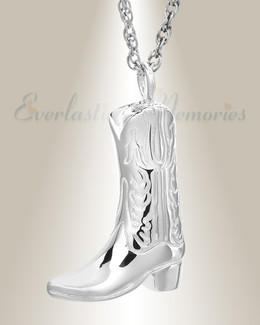 White Gold Boot Memorial Pendant