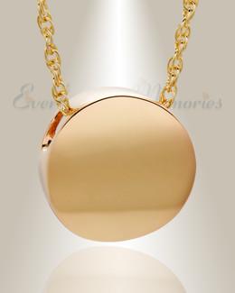 14K Gold Beach Round Urn Jewelry