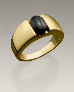 Men's 14K Gold Simply Sable Ashes Ring