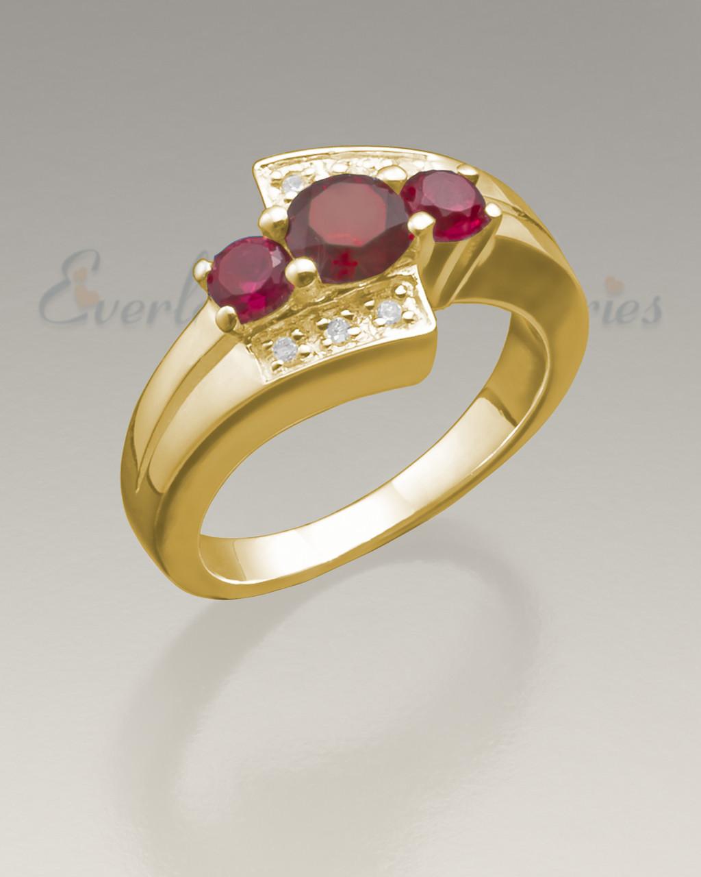 f0b6ef6894e Women's 14K Gold Shimmer Cremation Ring