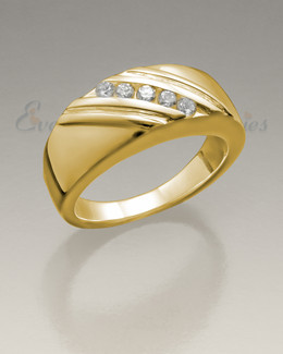 Women's 14K Gold Soothing Ashes Cremation Ring