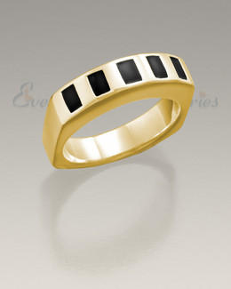 Men's 14K Gold Token Remembrance Ring