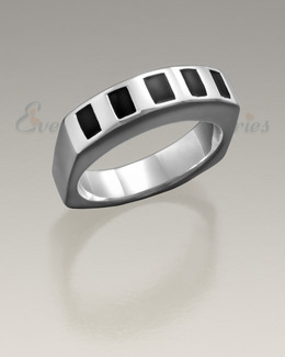 Men's White Gold Token Remembrance Ring