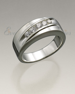Men's White Gold Wondrous Memorial Ring