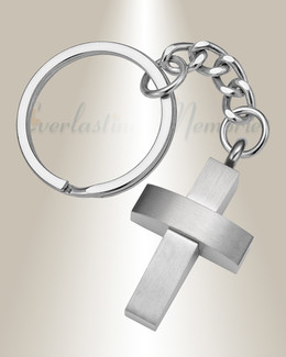Stainless Trendy Cross Memorial Keychain
